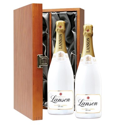 Lanson White Label NV Champagne 75cl Twin Luxury Gift Boxed (2x75cl)