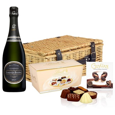 Laurent  Perrier Brut 2008 Vintage Champagne And Chocolates Hamper