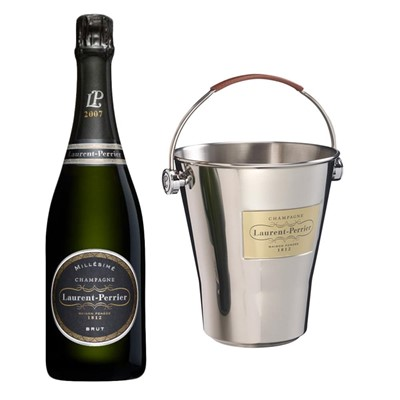 Laurent  Perrier Brut 2008 Vintage Champagne And LP Branded Ice Bucket Set