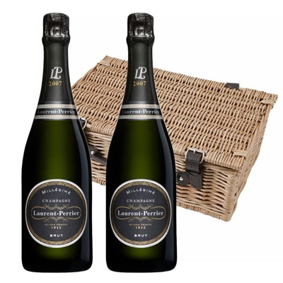 Laurent  Perrier Brut 2008 Vintage Champagne Twin Hamper (2x75cl)