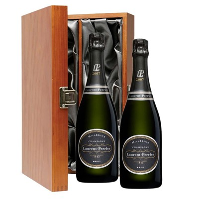 Laurent  Perrier Brut 2008 Vintage Champagne Twin Luxury Gift Boxed (2x75cl)