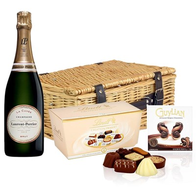 Laurent  Perrier La Cuvee Brut Champagne 75cl And Chocolates Hamper