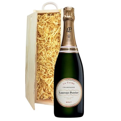 Laurent  Perrier La Cuvee Brut Champagne 75cl In Pine Gift Box