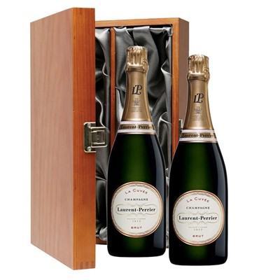 Laurent  Perrier La Cuvee Brut Champagne 75cl Twin Luxury Gift Boxed (2x75cl)