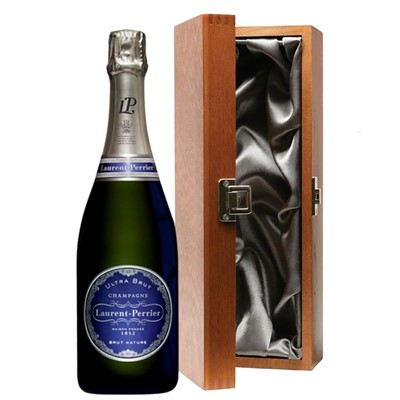 Laurent  Perrier Ultra Brut Champagne 75cl in Luxury Gift Box