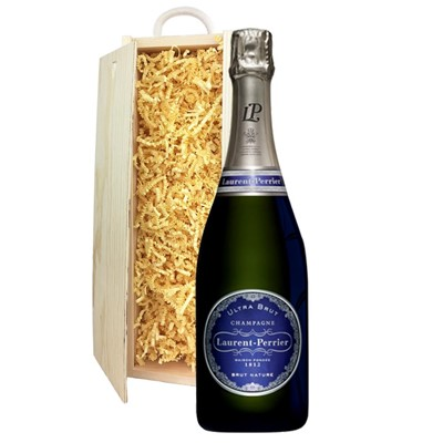 Laurent  Perrier Ultra Brut Champagne 75cl In Pine Gift Box