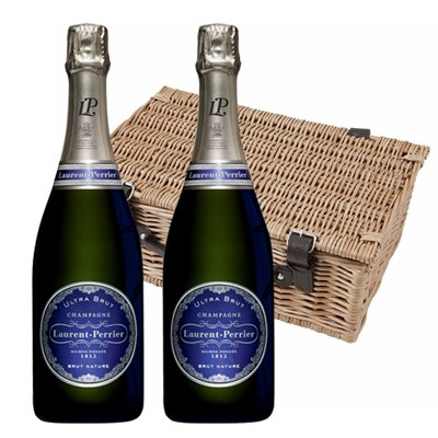 Laurent  Perrier Ultra Brut Champagne 75cl Twin Hamper (2x75cl)