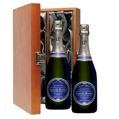 Laurent  Perrier Ultra Brut Champagne 75cl Twin Luxury Gift Boxed (2x75cl)