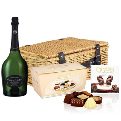 Laurent Perrier Grand Siecle Champagne 75cl And Chocolates Hamper