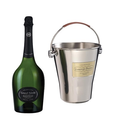 Laurent Perrier Grand Siecle Champagne 75cl And LP Branded Ice Bucket Set