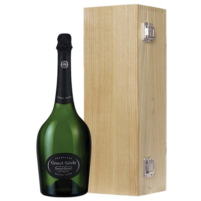 Laurent Perrier Grand Siecle Champagne 75cl Oak Luxury Gift Boxed