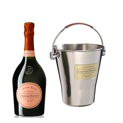 Laurent Perrier Rose Chamapgne 75cl And LP Branded Ice Bucket Set
