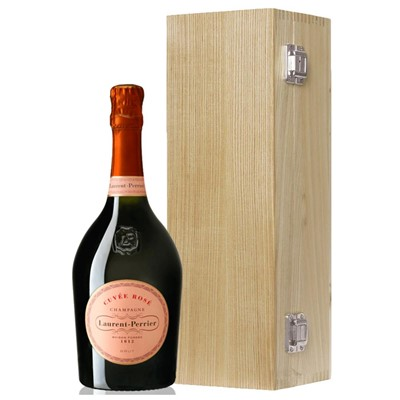 Laurent Perrier Rose Chamapgne 75cl Oak Luxury Gift Boxed