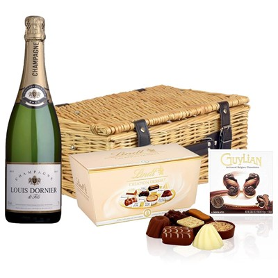 Louis Dornier and Fils Champagne 75cl And Chocolates Hamper