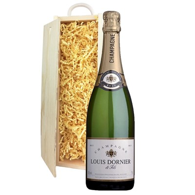 Louis Dornier and Fils Champagne 75cl In Pine Gift Box