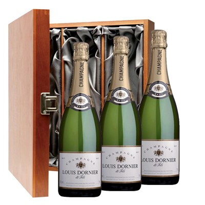 Louis Dornier and Fils Champagne 75cl Three Bottle Luxury Gift Box