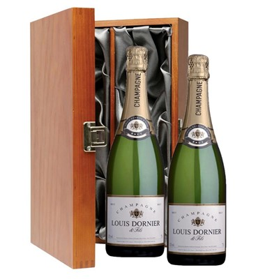 Louis Dornier and Fils Champagne 75cl Twin Luxury Gift Boxed (2x75cl)