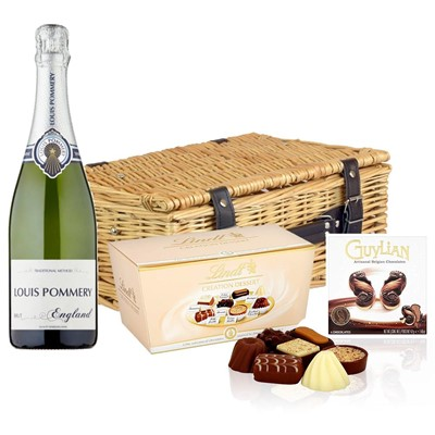 Louis Pommery 75cl Brut England And Chocolates Hamper