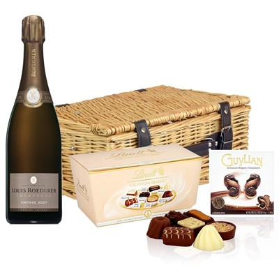 Louis Roederer 2012 Brut Vintage Champagne 75cl And Chocolates Hamper