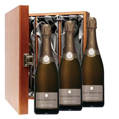 Louis Roederer 2012 Brut Vintage Champagne 75cl Three Bottle Luxury Gift Box