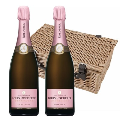 Louis Roederer 2014 Brut Rose Vintage Champagne 75cl Twin Hamper (2x75cl)