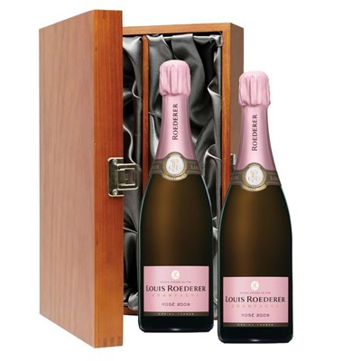 Louis Roederer 2014 Brut Rose Vintage Champagne 75cl Twin Luxury Gift Boxed (2x75cl)