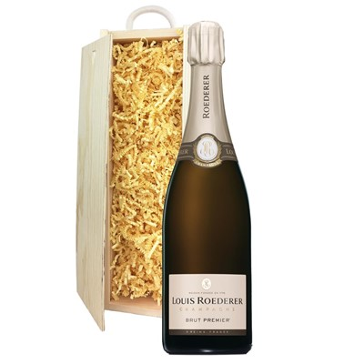 Louis Roederer Brut Premier Champagne 75cl In Pine Gift Box