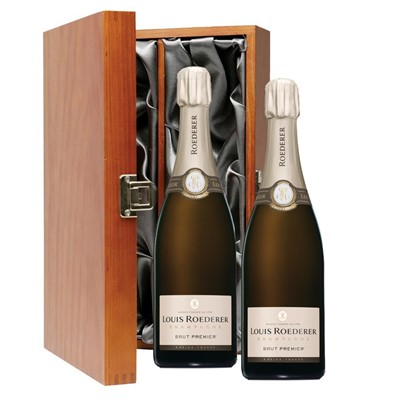 Louis Roederer Brut Premier Champagne 75cl Twin Luxury Gift Boxed (2x75cl)