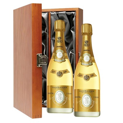 Louis Roederer Cristal Brut Vintage 2008 Champagne 75cl Twin Luxury Gift Boxed (2x75cl)