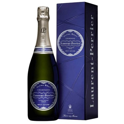 Buy Send a single bottle of Laurent Perrier Ultra Brut NV Champagne 75cl Presented in a stylish Gift Box with Gift Card for your personal message Laurent Perrier Ultra Brut is Fantastically dry Champagne at its most pure. . Price includes free UK Mainland Delivery, and Exports and international delivery available.