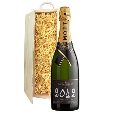 Moet & Chandon 2012 Brut Vintage Champagne 75cl In Pine Gift Box