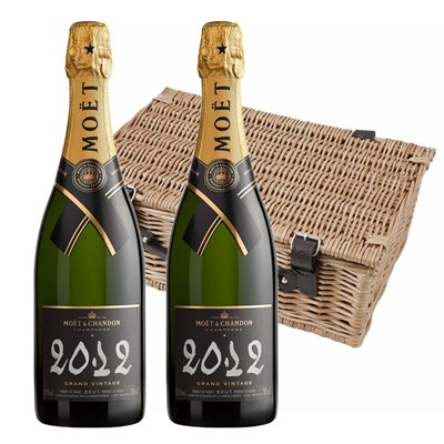 Moet & Chandon 2012 Brut Vintage Champagne 75cl Twin Hamper (2x75cl)