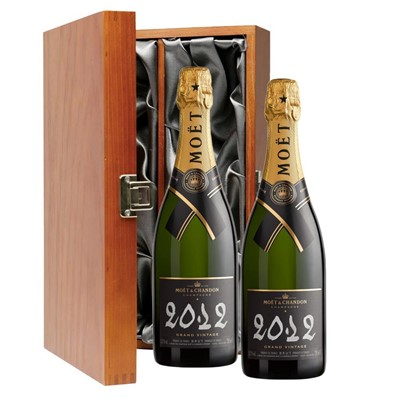 Moet & Chandon 2012 Brut Vintage Champagne 75cl Twin Luxury Gift Boxed (2x75cl)