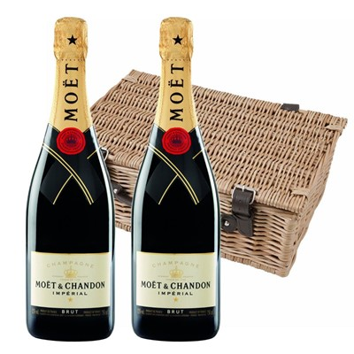 Moet & Chandon Brut Champagne 75cl Twin Hamper (2x75cl)