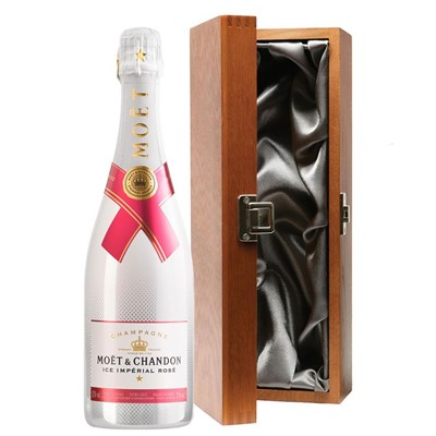 Moet & Chandon Ice Imperial Rose Champagne 75cl in Luxury Gift Box