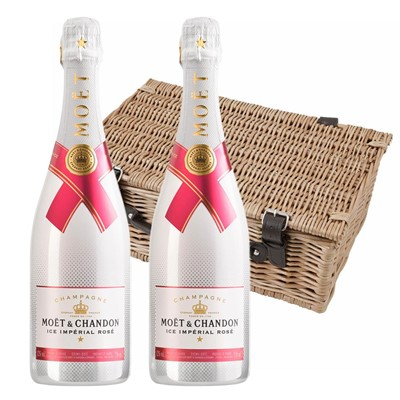 Moet & Chandon Ice Imperial Rose Champagne 75cl Twin Hamper (2x75cl)