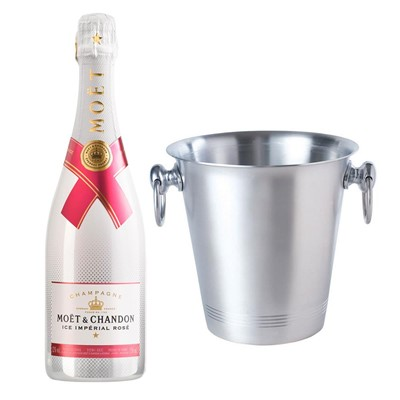 Moet & Chandon Ice Imperial Rose Champagne 75cl With Ice Bucket Set