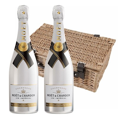 Moet and Chandon Ice White Imperial Champagne 75cl Twin Hamper (2x75cl)
