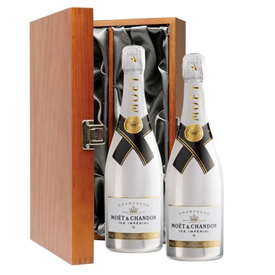 Moet and Chandon Ice White Imperial Champagne 75cl Twin Luxury Gift Boxed (2x75cl)