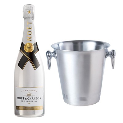Moet and Chandon Ice White Imperial Champagne 75cl With Ice Bucket Set