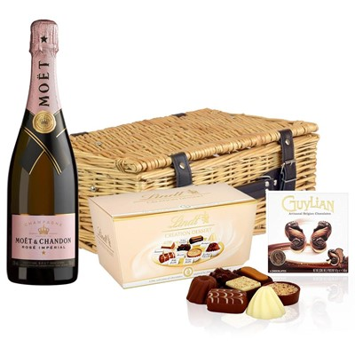 Moet & Chandon Rose Champagne 75cl And Chocolates Hamper