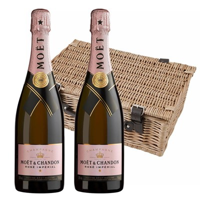 Moet & Chandon Rose Champagne 75cl Twin Hamper (2x75cl)