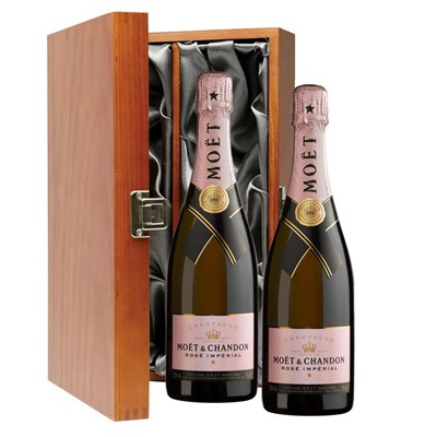 Moet & Chandon Rose Champagne 75cl Twin Luxury Gift Boxed (2x75cl)