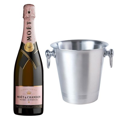 Moet & Chandon Rose Champagne 75cl With Ice Bucket Set