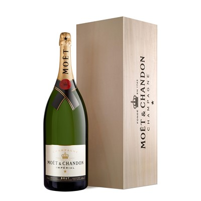 Buy a Salmanazar of Moet & Chandon Brut Imperial NV Champagne 9 litres equivalent to 12 x 75cl bottles . Presented in a wooden gift box. Please Note: To Special Order only Delivery normally 3 to 5 day Delivery. Price includes free UK Mainland Delivery, and Exports and international delivery available.