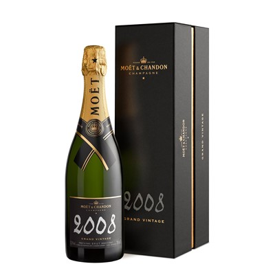 Buy Vintage Champagne a single bottle of Moet & Chandon Brut Vintage 2009 Champagne 75cl Presented in a stylish Gift Box with Gift Card for your personal message . Price includes free UK Mainland Delivery, and Exports and international delivery available.