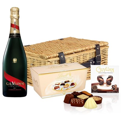 Mumm Cordon Rouge Champagne 75cl And Chocolates Hamper