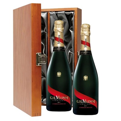 Mumm Cordon Rouge Champagne 75cl Twin Luxury Gift Boxed (2x75cl)