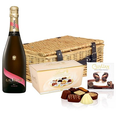 Mumm Le Rose Champagne 75cl And Chocolates Hamper