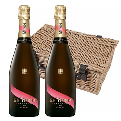 Mumm Le Rose Champagne 75cl Twin Hamper (2x75cl)